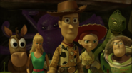 Woody and his friends confront Lotso at the dumpster