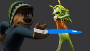 Bodi cuts Skiff's Hand Off