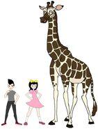 Riley and Elycia meets Nubian Giraffe