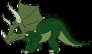 Simon Spacebot triceratops form thelandbeforetime in thespacebotsadventuresseries