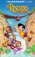The Rescuers Down Under (Davidchannel's Version) 1991 VHS Poster