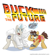 Marty McFly and Doc Brown ponified