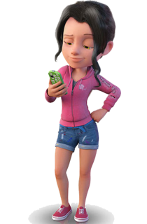 Amy Gonzales with her phone.png