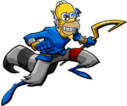 Homer Simpson as Sly Cooper.