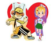 Kid and Little Ellen love together