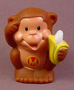 Fisher Price Little People Brown Woolly Monkey