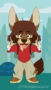 Mac Foster as a werewolf