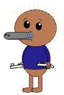 Kenai Hidna (straw) (two pistols)
