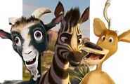 Khumba, Elliot and Zach the Goat