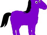 Saddleback the Tinky Winky Purple Horse