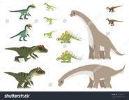 Stock-vector-african-jurassic-dinosaurs-vector-containing-allosaurus-kentrosaurus-heterodontosaurus-505020325