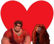 Wreck-It Ralph and Merida love together