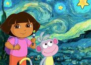 Dora and Boots as Painters.jpg