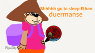 Ethan going to sleep in Ape Dora's belly