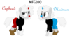 Ponified Cuphead and Mugman