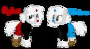 Ponified Cuphead and Mugman