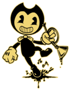 Bendy and his trumpet by lawlietriverrose-dbaqfxl