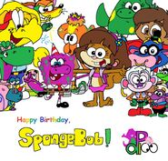 Happy B-Day, SpongeBob from B, D, and F!