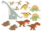74673486-various-famous-dinosaurs-vector-containing-tyrannosaurus-rex-velociraptor-non-feathered-triceratops-