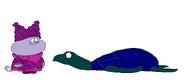 Chowder meets Leatherback Sea Turtle
