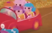 Peanut Driving while Bea, Jewel and Rosy ride in the car