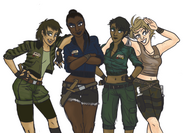 Charlie, Delta, Blue, and Echo Humanized