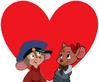Fievel Mousekewitz and Olivia Flaversham love together