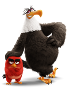 Mighty Eagle and Red render