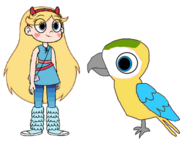Star meets Blue and Gold Macaw
