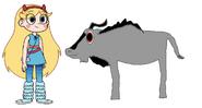 Star meets Eastern Blue Wildebeest