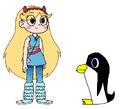 Star meets Emperor Penguin