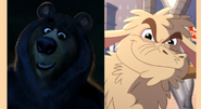 Vincent (Over the Hedge) and Goat (Green Eggs and Ham)