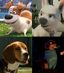 Max, Bolt, Lou and Mr. Weenie