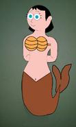 Ms. Keane as a Mermaid