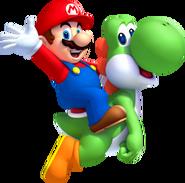 NSMBU Mario and Yoshi