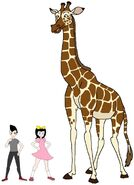 Riley and Elycia meets Rothschild's Giraffe