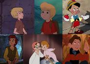 Wart, Cody, Pinocchio, Taran, John, Michael and Hogarth (My Little Girls - The Movie)