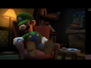 Luigi's Mansion Dark Moon Luigi Sleeps