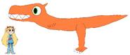 Star meets Allosaurus