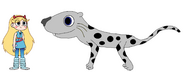 Star meets Snow Leopard