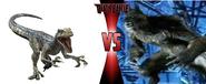 BLUE vs Velken the werewolf form in DEATH BATTLE