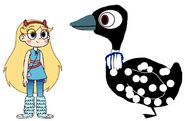Star Meets Common Loon