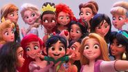 Vanellope and the Disney Princesses (Ralph Breaks the Internet)