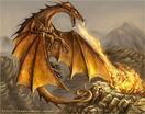 Gold European Dragon