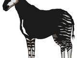 Stripelegs the Eerie Black Okapi