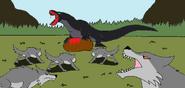 Eg primordia megalania vs dire wolves by syfyman2xxx dclzuaq