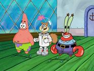 Sandy spongebob is back to normal