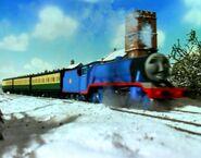Gordon puffing through the snow