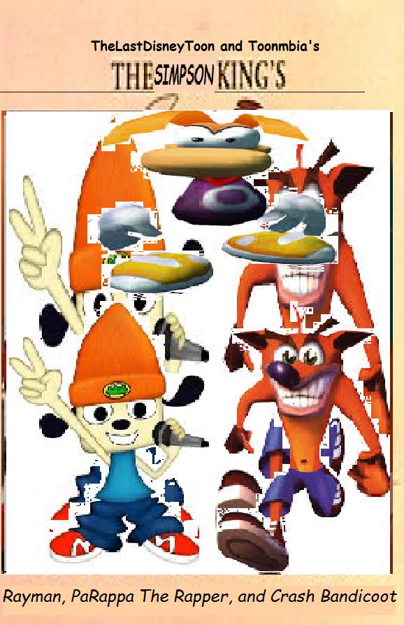Rayman, PaRappa The Rapper, and Crash Bandicoot (TheLastDisneyToon and Toonmbia Style) (Version 2)