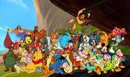 Walt Disney's Human and Animals is Happy